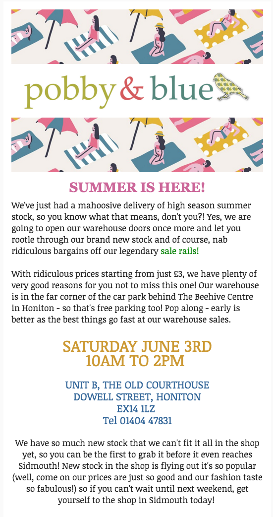 June Warehouse Sale
